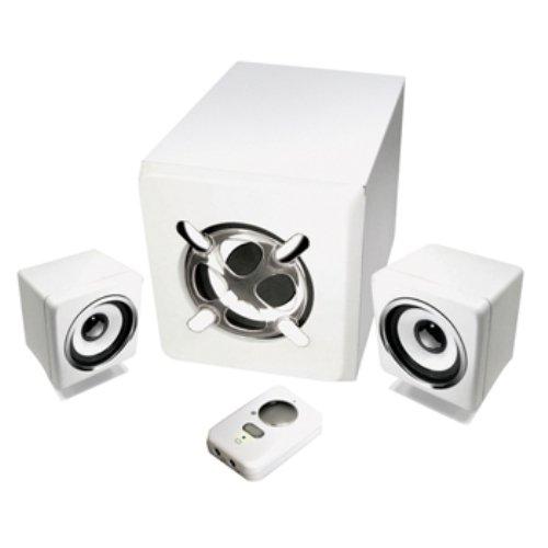 König CMP-SPSW30 2.1 Lautsprecher Set (1000 Watt PMPO) weiß