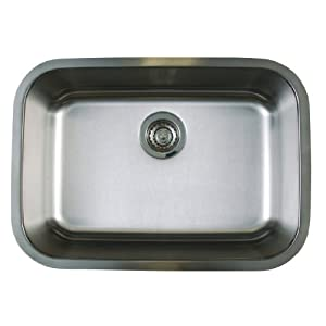 Blanco BL441024 BlancoStellar Super Single Bowl Undermount Sink, Refined Brushed