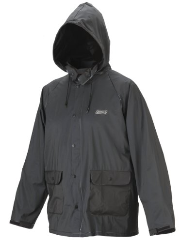Coleman .20 mm PVC Rain Suit, Black, Large