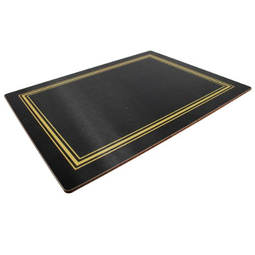 Melamine Continental Placemats Black (Pack of 10) | Restaurant Quality Tablemats Table Place Mats