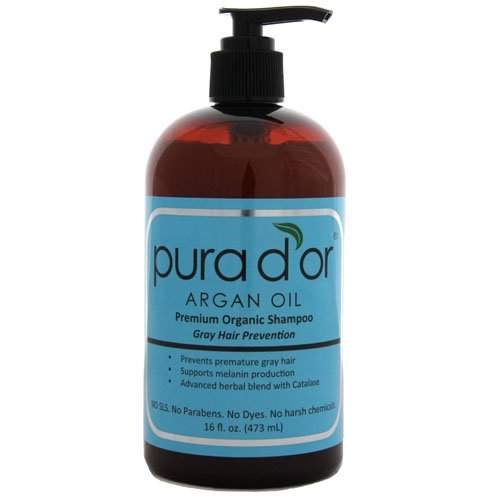 Pura d'or Gray Hair Prevention: Premium Organic Shampoo (16 fl. oz.)