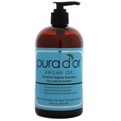 Pura d'or Gray Hair Prevention: Premium Organic Shampoo (16 fl. oz.)