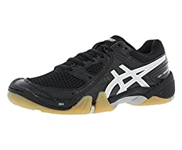 ASICS Women\'s Gel Dominion Volley Ball Shoe,Black/Silver/White,11 M US