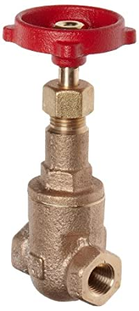 Milwaukee Valve 148 Series Bronze Gate Valve, General Service, Class 125, Rising Stem, NPT Female
