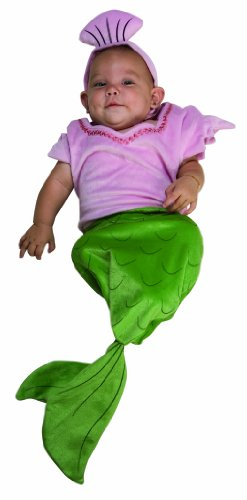 Rubie's Costume Deluxe Baby Bunting, Mermaid Costume, 1 to 9 Months
