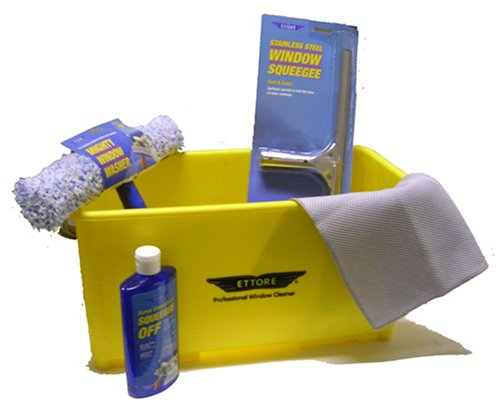 Complete Ettore Window Cleaning Kit with 6 Gallon Bucket