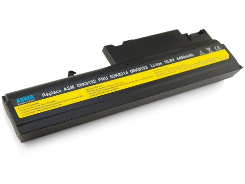 Anker New Laptop Battery for IBM ThinkPad T40 T40P T41 T41P T42 T42P T43 T43P R50 R50E R50P R51 R51E R52 Fits 08K8193 92P1011 92P1010 08K8195 92P1069 [Li-ion 6-cell 4400mAh]