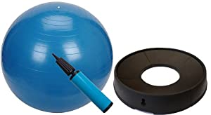 Anti Burst Gym Ball, Pump & Stabiliser EXERCISE PACK - 65cm in Blue - LIMITED STOCKS AVAILABLE!