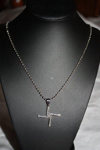 Mens or Womens Unisex Stainless Steel Cross Pendant