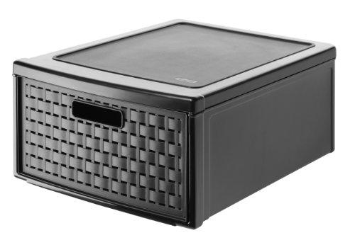 Rotho 1149080080 Grande boîte de rangement à tiroir Country