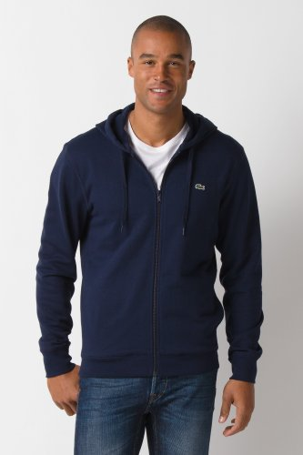 Glc Full Zip Cotton Fleece Hooded Sweatshirt