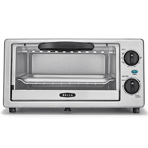 BELLA 4 Slice Countertop Toaster Oven, 1000 Watt Quartz Element (Bella Toast Oven compare prices)
