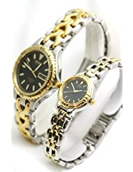 Seiko Watches- His and Hers New Two Tone Water Resisitant Men's and Women's Watch