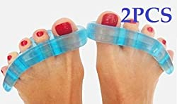 Cerkos Gel Toe Separators Stretchers Straighteners Alignment Bunion Pain Relief Spacers Straightener Spreader