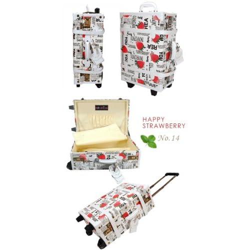 決算 ハナイズム Mサイズ トランクキャリーバッグ - HANA ism -M14 ハッピーストロベリー/キャリーケース・スーツケース