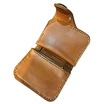 D'SHARK Men's Biker Genuine Leather Luxury Bi-fold Wallet with Chain (Brown)