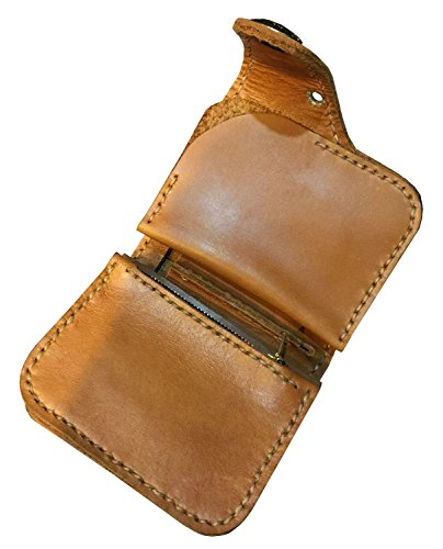 D'SHARK Men's Biker Genuine Leather Luxury Bi-fold Wallet with Chain (Brown) 1