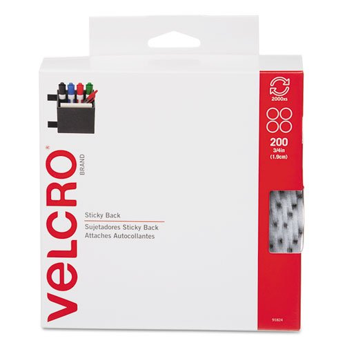 Buy Cheap VELCRO Brand - Sticky Back - 3/4 Coins, 400 Sets - White