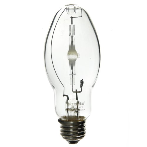 Sunlite MH50/U/MED 50-Watt Metal Halide ED17 Bulb, Medium Base, Clear