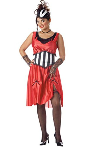 California Costumes Womens Historic Can Can Saloon Girl Fancy Halloween Dress
