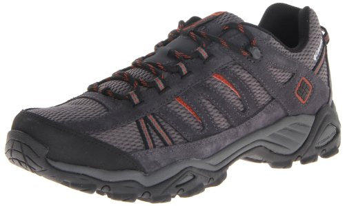 Columbia Men's North Plains Hiking Shoe,Charcoal/Cedar,11.5