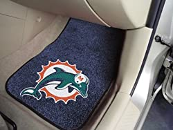 FANMATS 5790 NFL Miami Dolphins Front Carpet Car Mat - 2 Pieces