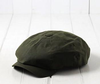(ヴィーゲン) Wigens スウェーデン ワックスコットン8Pキャスケット 50-15994 オリーブ 60cm ワックス加工 オイルクロス オイルコーティング 大きいサイズ 8枚はぎ ハンチング メンズ 紳士 男性 帽子