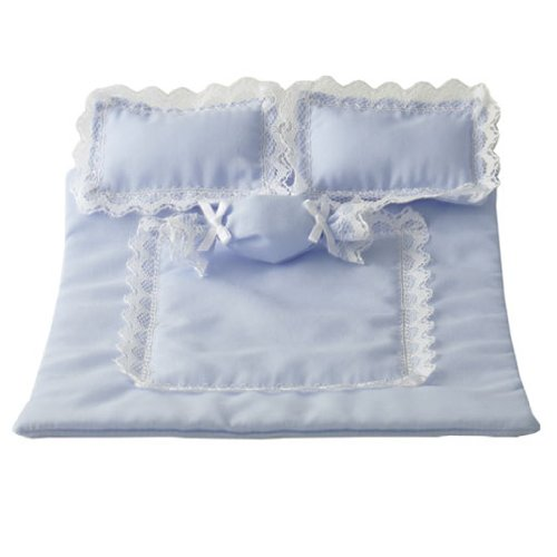 Dollhouse Miniature 4-Pc. Twilight Blue Comforter Set