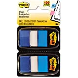 Post-it Flags Value Pack, Blue, 1-Inch Wide, 50/Dispenser, 12-Dispensers/Pack