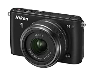 """Nikon 1 S1 Appareil photo numérique hybride 10,1 Mpix Écran LCD 7,5"""" 2,5X Noir"""