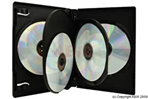 Dexlan Pack de 3 Boitier DVD pour rangement de 4 DVD Noir