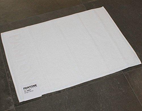 TAPPETO BAGNO PANTONE by BASSETTI 11-0601 BRIGHT WHITE BIANCO CM 50 x 70 100% PURO COTONE
