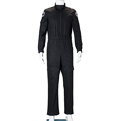 Star Wars Imperial Tie Fighter Pilot Black Cosplay Flight Suits Jumpsuit Costume (Imperial Flight Suit compare prices)