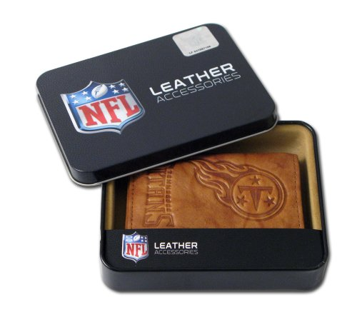 NFL Tennessee Titans Embossed Genuine Cowhide Leather Trifold Leather Wallet