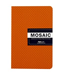Grandluxe Orange Mosaic Leatherette Journal, 128 Sheets, 8.25 x 5.875-Inches (310585)