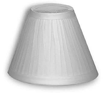 small white cloth pleated lamp shade clips onto tapered candelabra. Black Bedroom Furniture Sets. Home Design Ideas