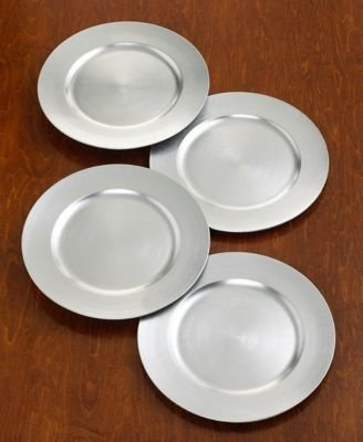 Charter Club Platinum Charger Plates, Set of 4 (Platinum Charger Plates compare prices)