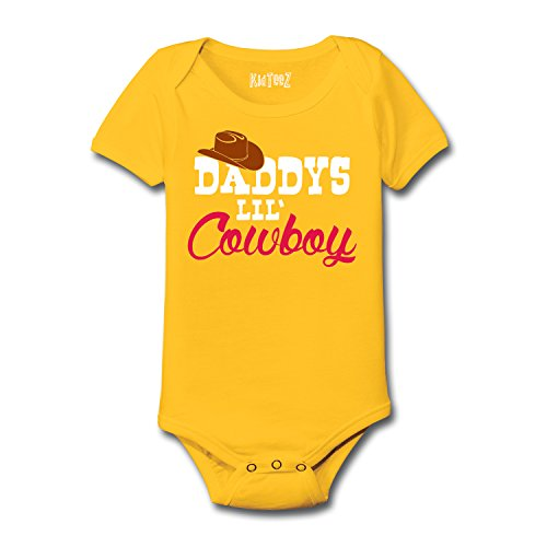 Daddy's Lil' Cowboy Little Cowboy Hat Cowboy Boots Western Wear Novelty - Baby One Piece