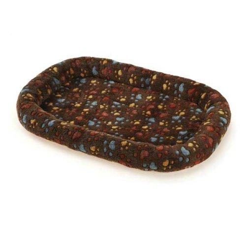 Slumber Pet Plush Paws Crate Pet Bed, Medium, Brown front-810379