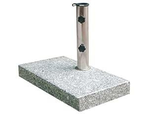 Siena Garden 213345 Granit pour Mâts de Parasol Gris 25 x 48 mm