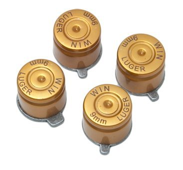 Geniusmods PS3 Bullet Buttons for Controller (Circle, Square, Triangle, X) (Gold)