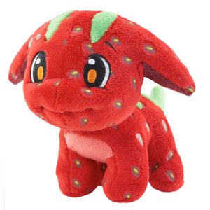 Neopets Collector Species Series 3 Plush with Keyquest Code Strawberry Poogle (Limited Edition)