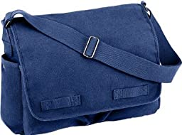 Blue Classic Army Messenger Heavy Weight Shoulder Bag
