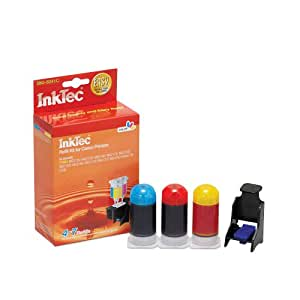 Inktec Brand Inkjet Refill Kit for Canon CL-241xl (CL241xl) Color Ink Cartridges for Mx439, Mx512, Mx432, Mx372, Pixma Mg2120, Mg3120, and Mg4220 ink Printers.