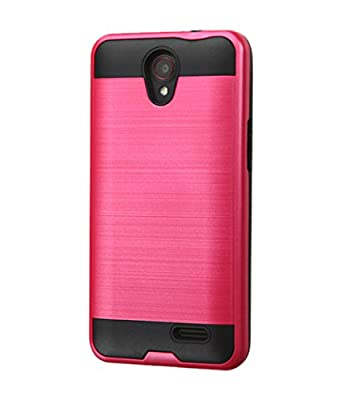 Asmyna Cell Phone Case for ZTE N9132 (Prestige) - Retail Packaging - Black/Red/Dull-Red from Asmyna