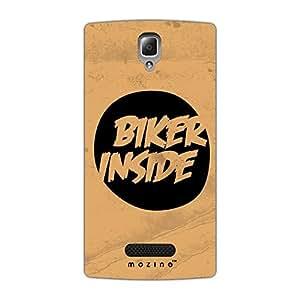 Mozine Biker Inside Printed Mobile Back Cover For Lenovo A 2010