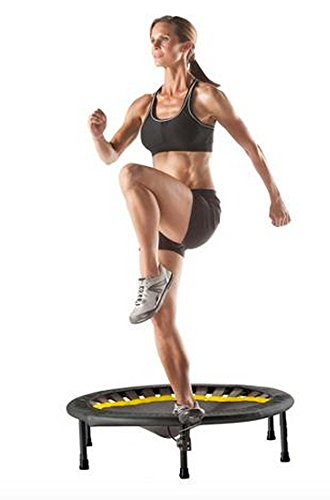 Exercise Trampoline For Adults Mini Workout Fitness Rebounder With Tracking Monitor