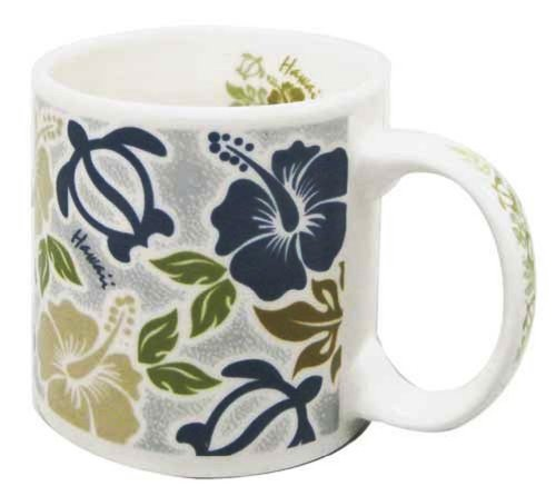 Hawaiian Coffee Mug 20 Oz. Honu Turtle Hibiscus