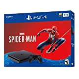 2018 Sony PlayStation 4 1TB Hard Drive Slim Marvel's Spider Man Bundle-Jet Black