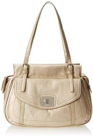 Nine West Starlet Satchel MD Top Handle Bag,Starlet Satchel Md,Platinum ,One Size